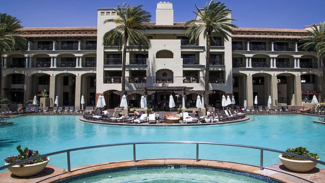 This is the main pool at the Fairmont Scottsdale Princess resort.
