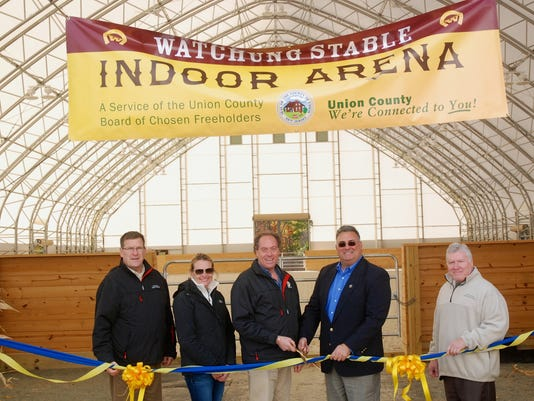 Union County: Freeholders cut ribbon on improvements at Watchung Stables PHOTO CAPTION