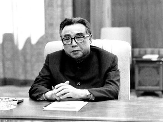 A 1979 photo of Kim Il Sung in Pyongyang, North Korea.