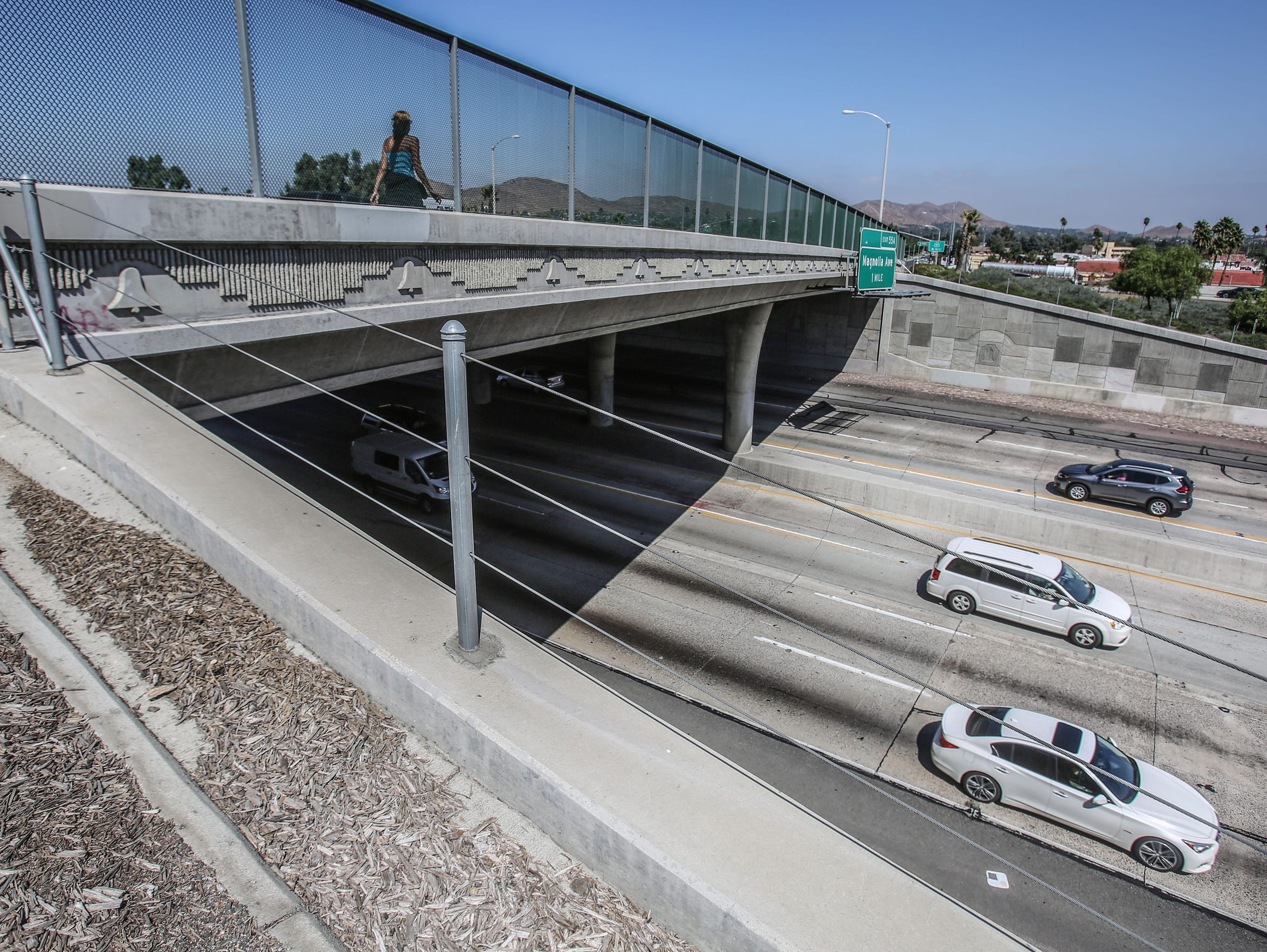 The La Sierra Avenue overpass, where Dane Norem was