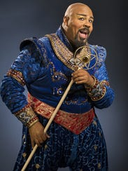 James Monroe Iglehart plays the Genie in the Broadway