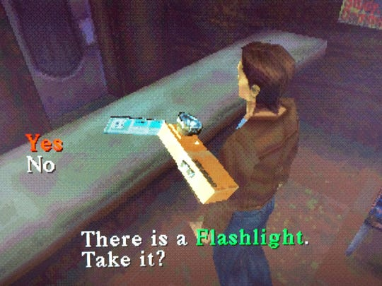 The flashlight is essential to navigating Silent Hill when is in it's dark, eerie state.