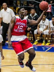 Spartanburg Day Griffins player Zion Williamson during a game against the Gray Collegiate War Eagles.