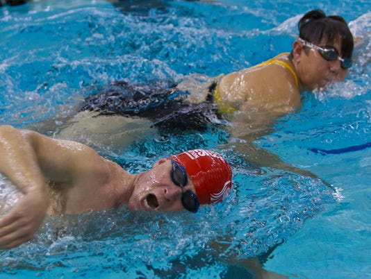 1 lead mitch swims a lap