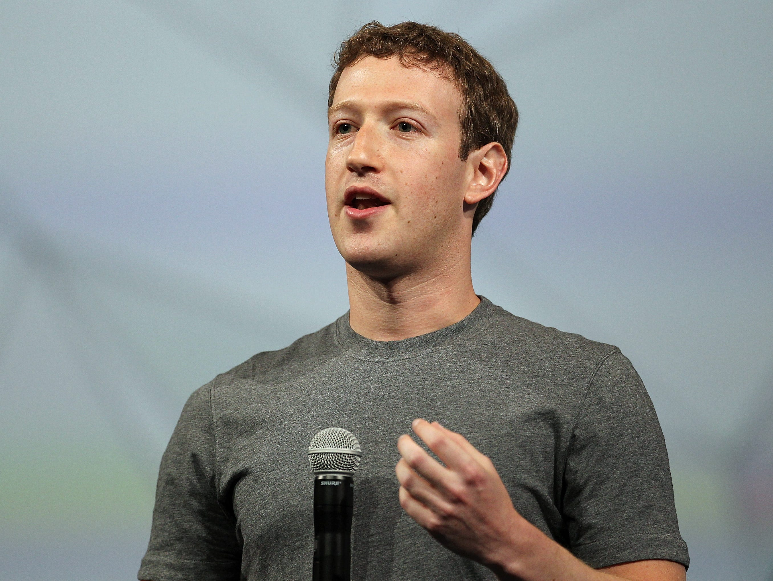 Facebook CEO Mark Zuckerberg delivers the opening keynote at the Facebook conference in San Francisco in April.