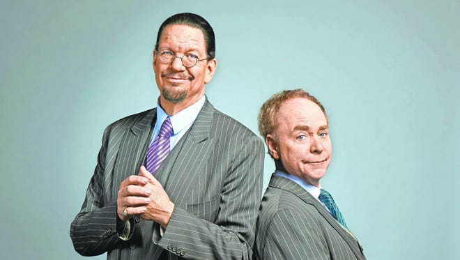 Penn Jillette (left) and Teller first performed together in Princeton in 1975.