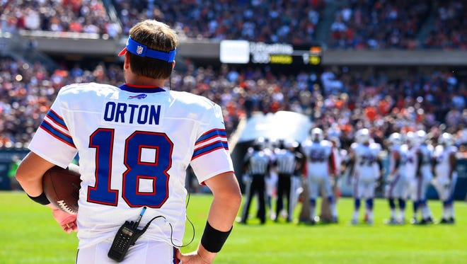 Buffalo Bills quarterback Kyle Orton (18) during the second half at Soldier Field.