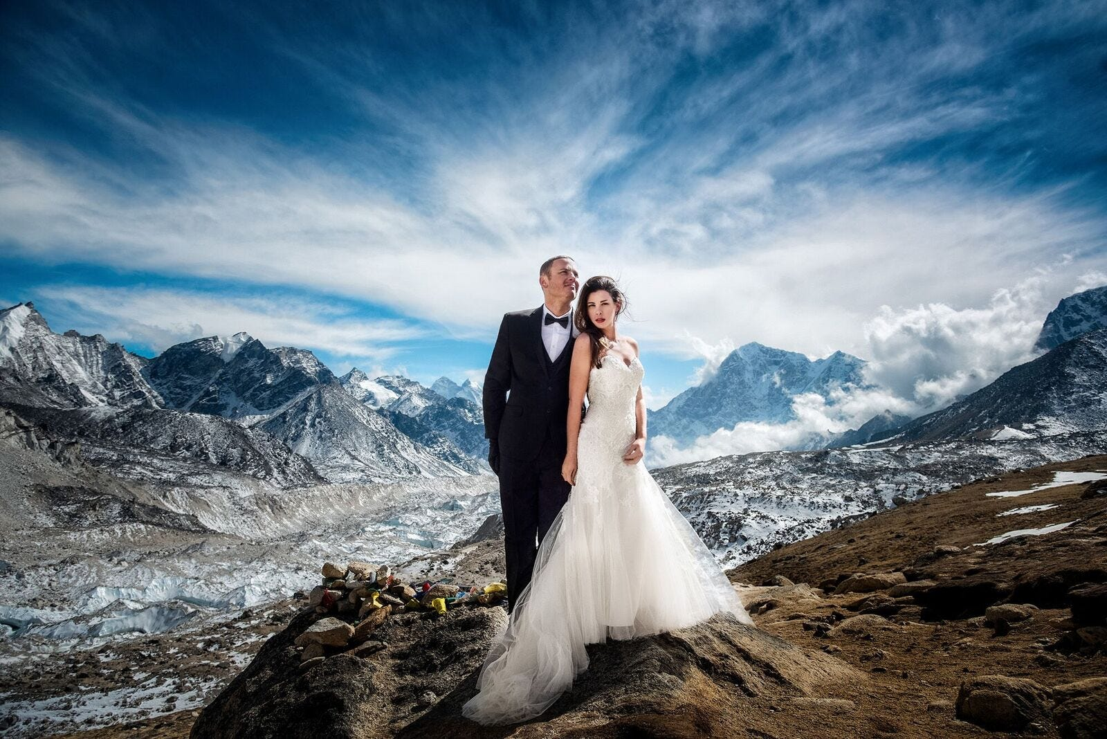 This Couple Got Married on Mt. Everest and the Wedding Pics Are Over the Top