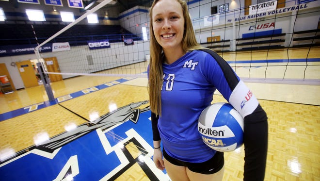 MTSU volleyball player Chelsea Ross.