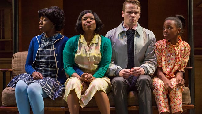 Christina D. Harper, Tracey N. Bonner, Nick Vidal and Nia Simmons in IRT's 2015 production of April 4, 1968: Before We Forgot How to Dream.