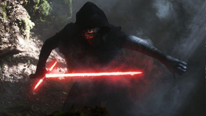 Kylo Ren (Adam Driver) in 'Star Wars: The Force Awakens.'