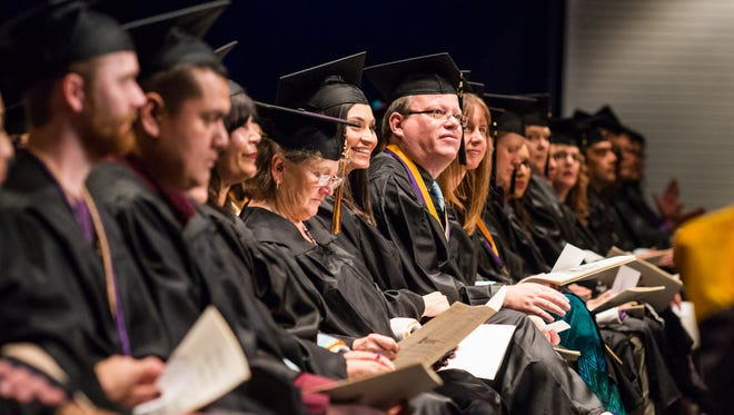 At least 250 students will be earning certificates, associate, baccalaureate or master degrees on Friday, Dec. 11, at the fall commencement ceremony beginning at 2:30 p.m. in the Fine Arts Center Theatre.