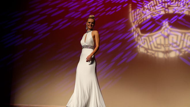 Tess Buege during the Miss Green Bay Area Scholarship Pageant 2016 at the Meyer Theatre in downtown Green Bay on Saturday, Jan. 23, 2016.