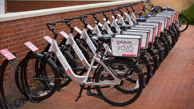 Bicycles are now available for rental on the University of Louisiana at Lafayette campus.