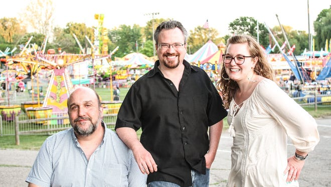 The Roustabout Theatre team, from left: artistic director Joseph Albright, executive director Joseph Zettelmaier  and managing director Anna Simmons.