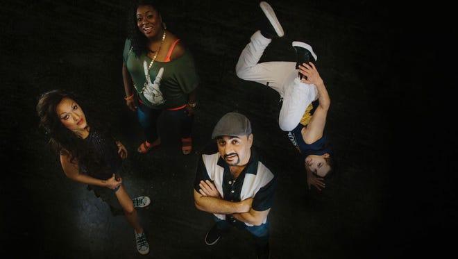 "Phoenix Theatre's ""In the Heights"" stars (from left) Alyssa Chiarello, Chanel Bragg, Pasha Yamotahari and Nick Flores."