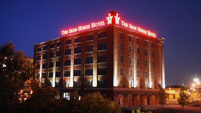 The Iron Horse Hotel in Milwaukee is housed in a 100-year-old warehouse building.