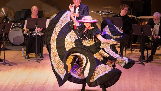 Ballet Folklorico dancers perform with the Monterey County Pops!