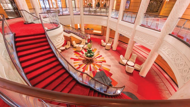 The Queen Mary 2's central Atrium has a bold new look.