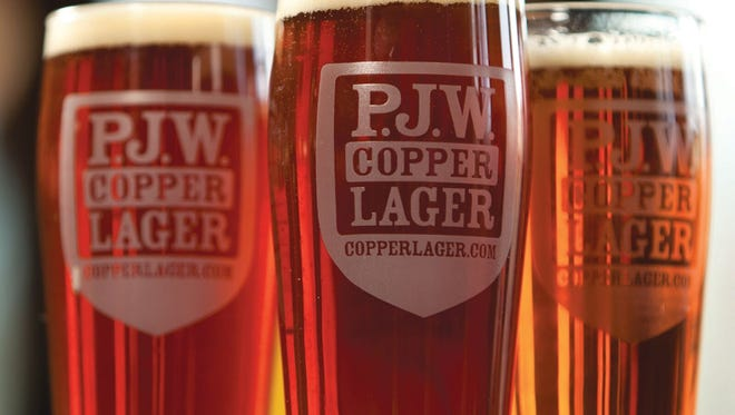 P.J.W. Copper Lager is an early collaboration between Victory Brewing and the restaurant group.