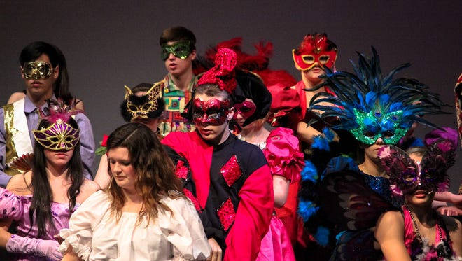 """Seven students who worked on make-up, hair and costumes for St. Mary's Springs Academy's production of """"The Phantom of the Opera"""" are among 18 nominated for Tommy Awards."""