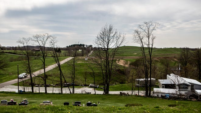 A view of the countryside in Monroe County.
