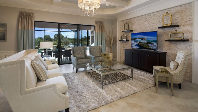 Lennar Corp.'s Maria model is one of two furnished model residences open for viewing in TwinEagles' new Kinross neighborhood.