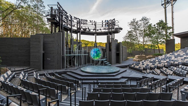 American Players Theatre, Spring Green, rebuilt its outdoor Hill Theatre stage to improve sight lines and acoustics.