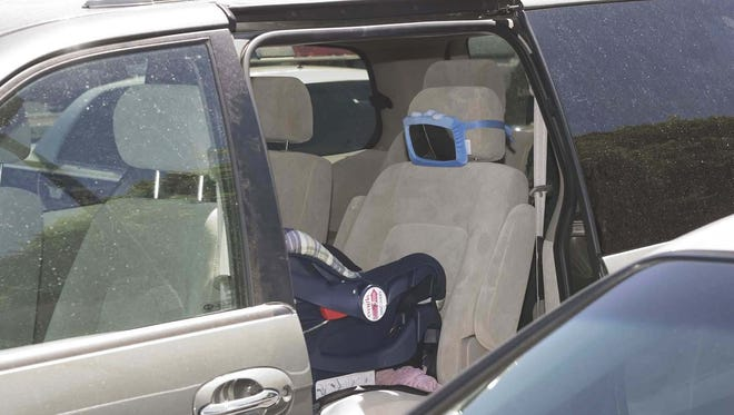 Hundreds of children have died from heatstroke after being left in a vehicle.