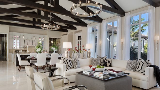 Gulfshore Homes' furnished Dorado model is one of three estate residences remaining in Prato at Talis Park. The Dorado offers 8,862 total square feet with 6,336 square feet under air offered at $4.849 millionfurnished.