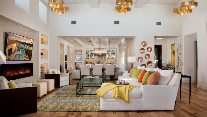 London Bay Homes' furnished Capriano model in Lucarno at Mediterra reflects the contemporary interior designs the luxury homebuilder is introducing within the community.