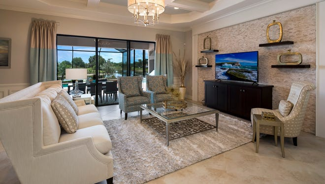 The Maria is one of two furnished modelsin Lennar Corp.'sKinross neighborhood at TwinEagles.