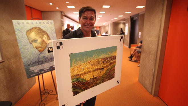Brian Neil Hoff is photographed at a showing of an Anime film at the Annenberg Theater at the Palm Springs Art Museum.