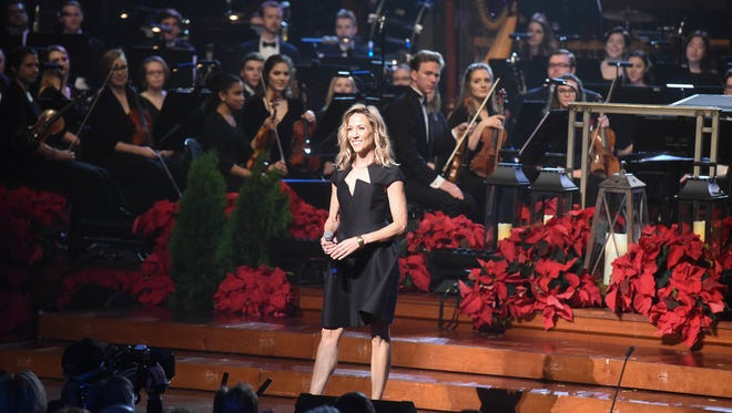 """Sheryl Crow performs at """"Christmas at Belmont"""" at the Schermerhorn Symphony Center in Nashville on Dec. 4, 2017."""