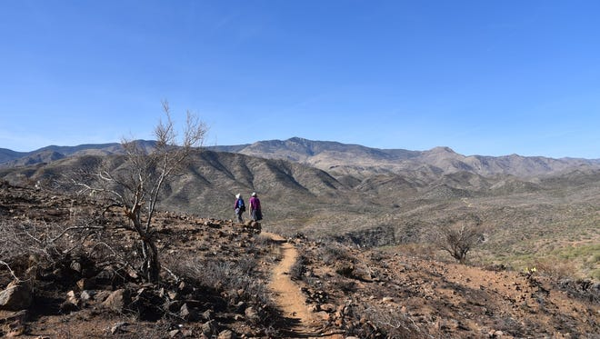 Expansive mountain views are a highlight of the Bumble Bee segment of the Black Canyon Trail.