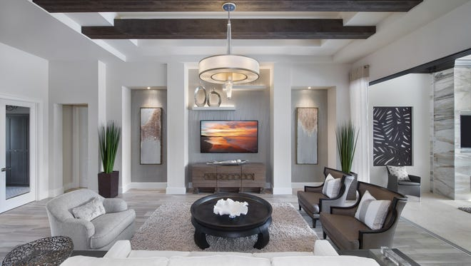 Vogue Interiors'Leslie Gebert, Allied Member, ASID and Sheila Corasaniti, IDS have completed the interior design for Harbourside's Seabrook model at Miromar Lakes Beach & Golf Club.