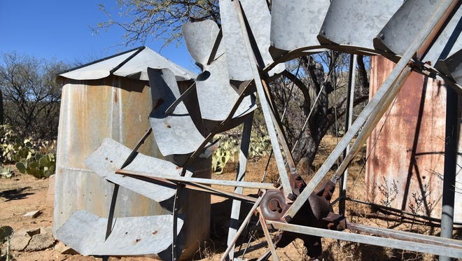 Some of the relics at Hope Camp, a former cattle-herding camp in the Rincon Mountains of Saguaro National Park.