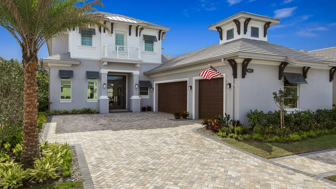 Seagate has started construction of a new furnished model showcasing its two-story Grenada floor plan at Windward Isle in North Naples.