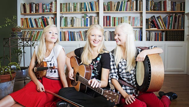 The Gothard Sisters — from left, Willow, Greta and Solana — perform March 17 at the Roxy Theatre in Bremerton.