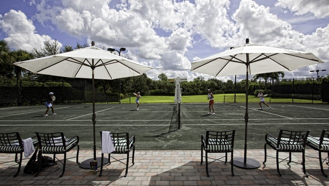 The Club at Mediterra is home to a tennis program that is acknowledged as one of the best in the country.
