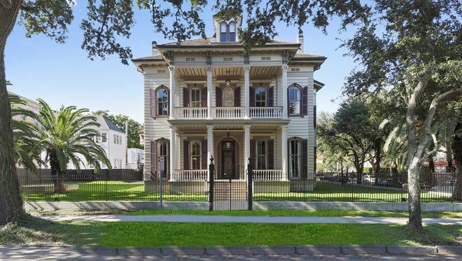 This 5 bedroom, 5 and 2 half bath home is located at 3711 St. Charles Ave. in New Orleans. It is listed at $4,500,000.