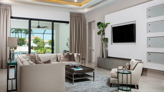 Priced at $1.96 million with furnishings, London Bay Homes' furnished Bettina model is one of three models open in Mediterra's Cabreo neighborhood.