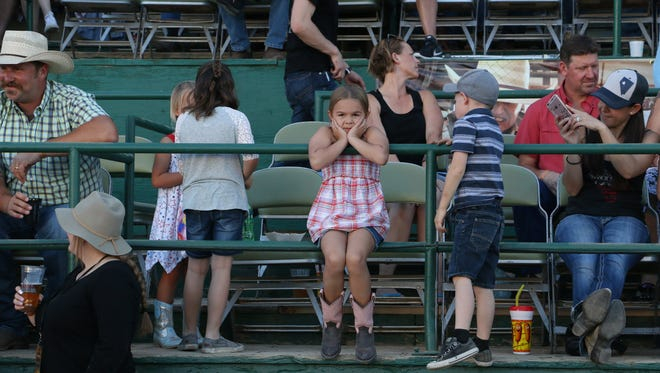 Fans gather for the Reno Rodeo concert on June 13, 2018.