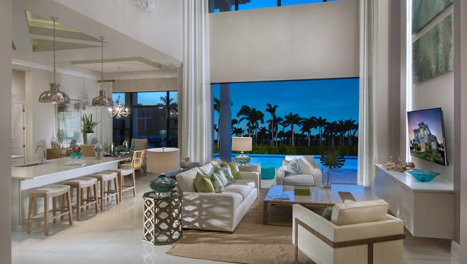 Vogue Interiorscompleted the interior design for Stock Custom Homes' Malibu residence at 617 Hernando Drive on Marco Island.