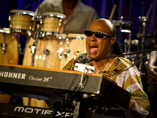 Stevie Wonder performs at the GRAMMY Museum on Sept.