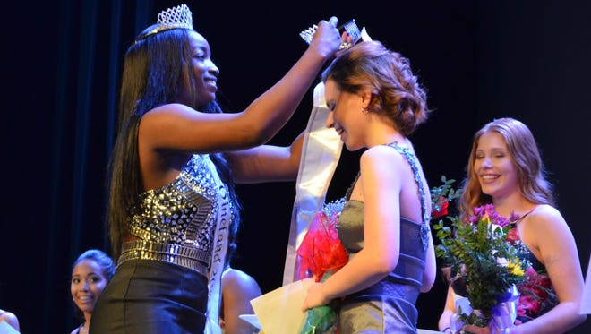Miss Vineland 2017 Jada Dion Morgan crowns Sarah Layton as Miss Vineland 2018 on Saturday, Jan. 27 at The Landis Theater.
