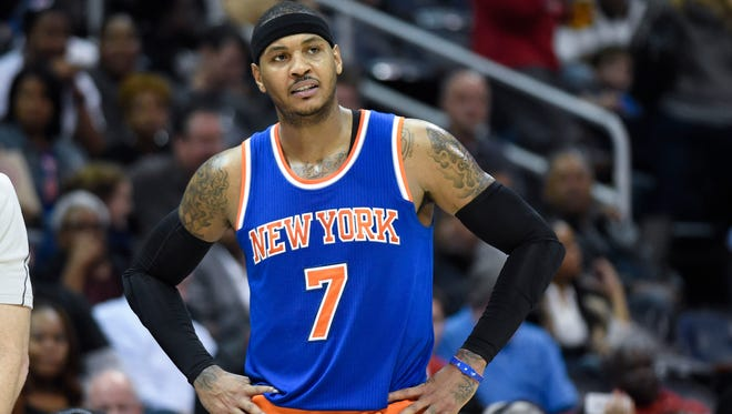 Even the Knicks' Carmelo Anthony's 20 points couldn't help the team from losing its fourth straight game. Atlanta won 103-96.