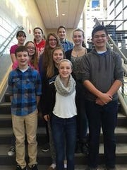 The seventh- and eighth-grade students at St. Mary Catholic Middle School completed a quarter-long project that spanned three curriculum areas (science, math, LA) and culminated in a science fair. Awards went to Annie Higgins, first place; Ava Aldag, Sam Peters and Alex Ullrich, second; Megan Berg, Teresa Dold and Claire Krautkramer, third; and Wesley Blashka, Maddie Parks and Christina Trzasko, honorable mention.