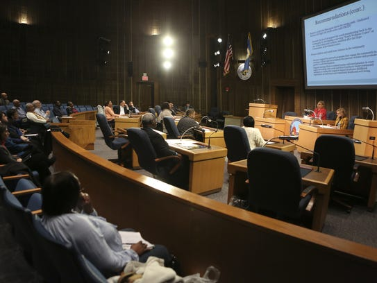 Members of Wilmington City Council update the public
