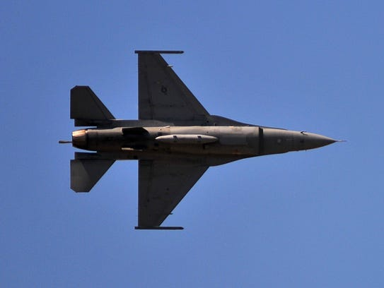 The Air Force F-16 Viper Demonstration Team flew to